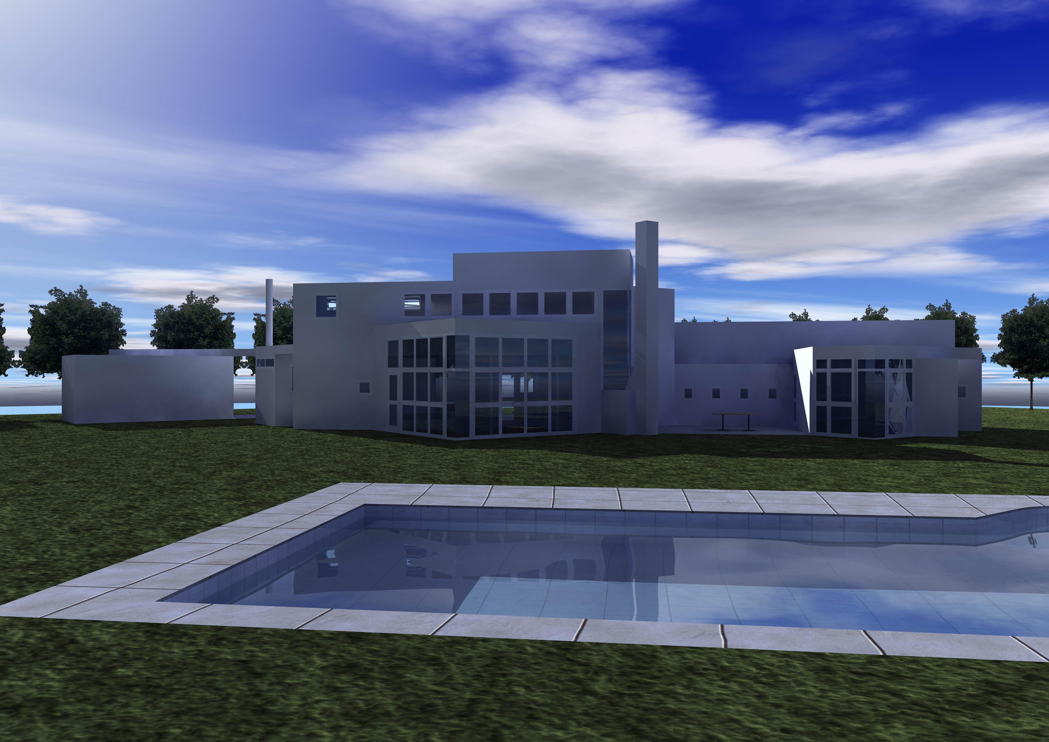 Rendering Stamberg House - Prospettiva verticale