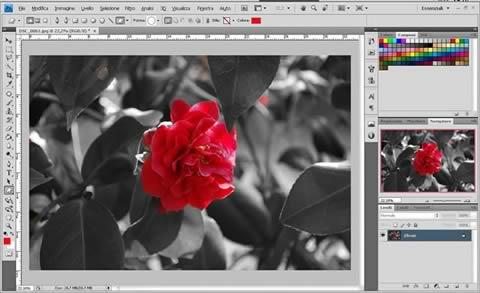 Photoshop - Un solo colore dentro una foto in bianco e nero