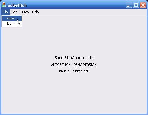 Autostitch - aprire file