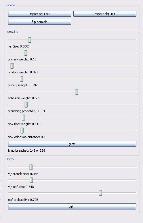 Impostazioni per An Ivy Generator