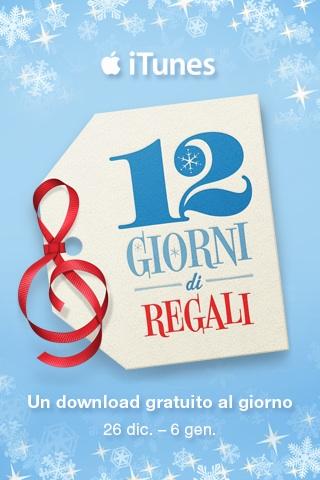 iTunes 12 giorni di regali